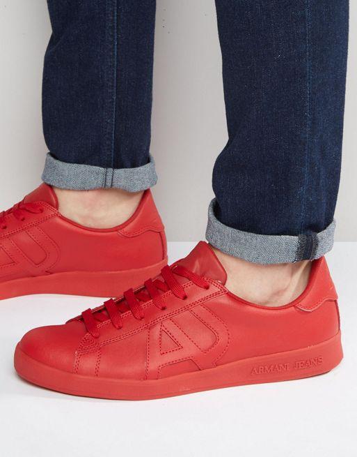 chaussure armani rouge e0cb5614d673