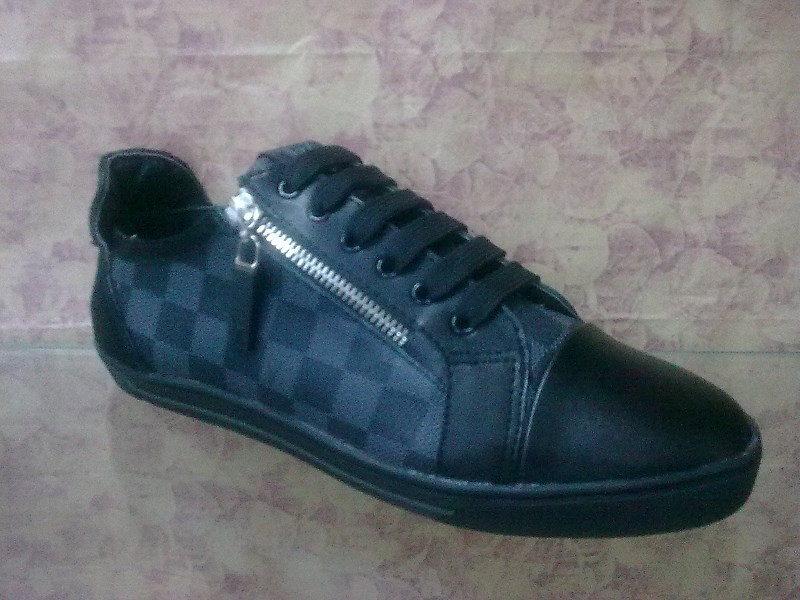 vuitton chaussures populaire hommes fr cuir grid on wholesale 9e94d ... 7cc572d1bd2