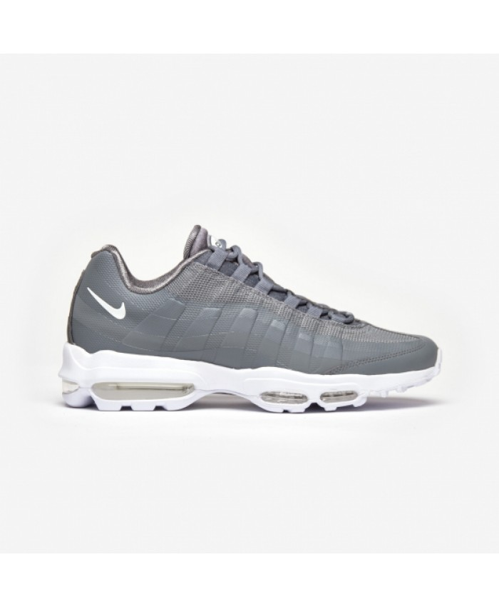 Chaussures Nike Air Max 95 Ultra Essential Gris Blanc Rouge