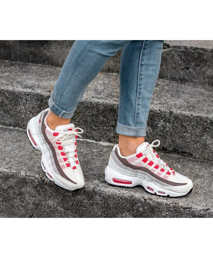 air max 95 grise et rouge