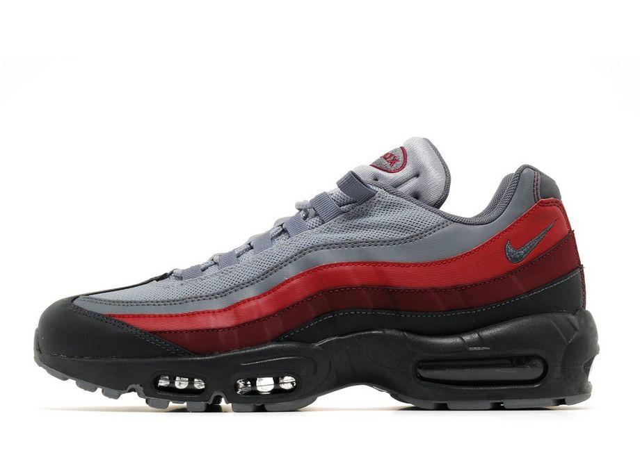 Homme Nike Air Max 95 Essential Gris Rouge Noir
